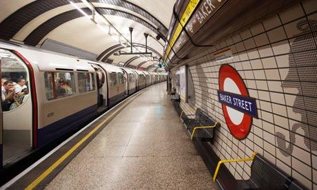 Baker Street London Underground Station platform