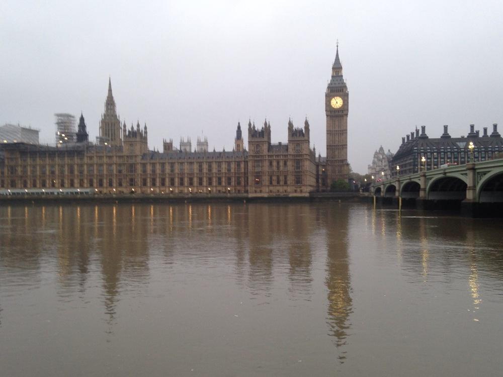 Parliament at Dawn. Big Ben.