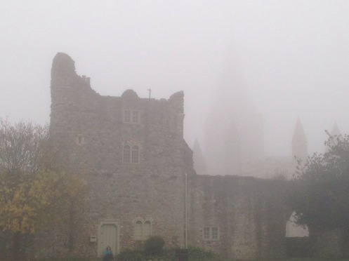 Rochester Castle & Cathedral in Fog